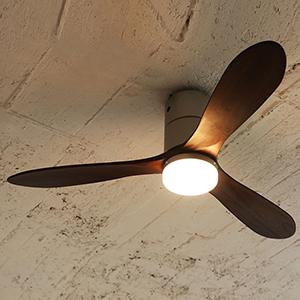 JAVALO ELF(ジャバロエルフ) Modern Collection LED シーリングファン REAL wood blades (電球色)