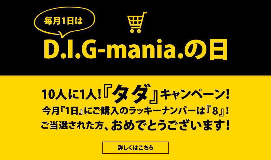 毎月1日はDIG-maniaの日